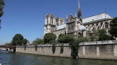 Notre Dame Cathedral, Paris Stock Footage