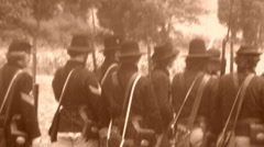 UNION SOLDIERS RELOAD American Civil War Battle Shooting 1864 Vintage Film Movie Stock Footage