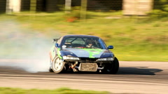Drift car slow motion Stock Footage