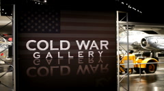 Cold War gallery at Wright Patterson Airforce Museum Stock Footage
