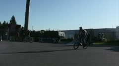 BMX biker does a backflip Stock Footage