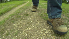 POV Walker Boots Stock Footage