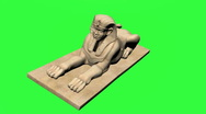 Stock Video Footage of Sphinx Chromakey