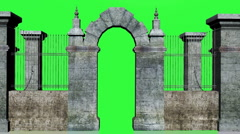 Gate Chromakey Stock Footage