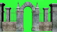 Stock Video Footage of Gate Chromakey
