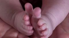 Baby feet Stock Footage