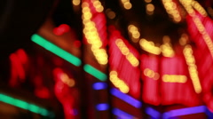Out of focus lights close shot Stock Footage