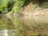 Steady Carpathian river Stock Footage