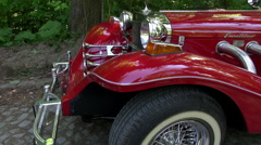 Red Excalibur Classic Car Vintage Arkistovideo