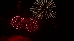 Colorful fireworks. The Best. - stock footage
