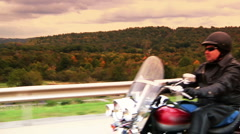 Motorcycle Rider 993 Stock Footage