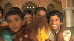 Indian kids - stock footage