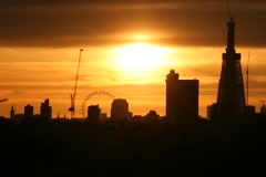 London Eye Sunset Time-Lapse - stock footage