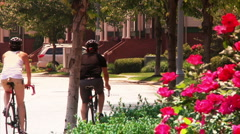 Pittsburgh Bicyclists 2134 - stock footage