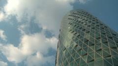 Westhafen Tower Frankfurt Stock Footage