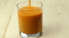 Mango Juice Pour Stock Footage
