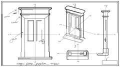 Door Technical Drawing Time Lapse HD Stock Footage