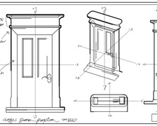 Door Technical Drawing Time Lapse PAL Stock Footage