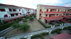 Panoramic view from the balcony Stock Footage