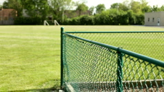 Climbing fence at playground Stock Footage