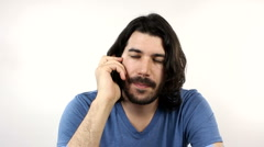 Man Annoying Phone Call  Stock Footage