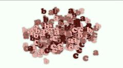 alphabet abc,cartoon letter paper card matrix background,computer screen.abstra - stock footage