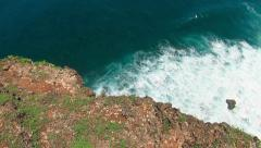 52 Rocky coast, waves and panorama of the ocean Stock Footage