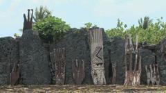 Stock Video Footage of Raiatea Taputapuatea marae 5