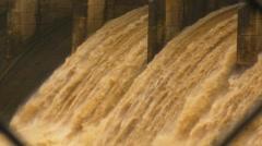 HD Dam Flood Water v1Raging flood waters-12secs Stock Footage