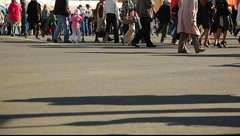 Walking peoples legs Stock Footage