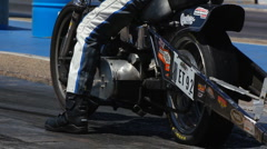 At the dragstrip with just about anything that has wheels - 21 Stock Footage
