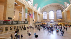 New york's grand central station transportation manhattan nyc Stock Footage
