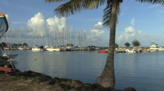 Raiatea sailboat harbor - stock footage