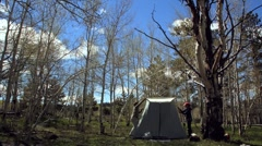 Taking down tent timelapse Stock Footage