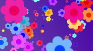 Retro Flowers BG 3 Stock Footage