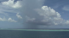 Raiatea rain on the reef Stock Footage