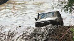 Race jeep Stock Footage
