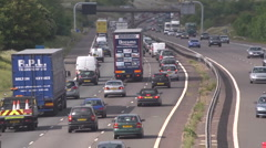 Busy motorway time lapse traffic Stock Footage