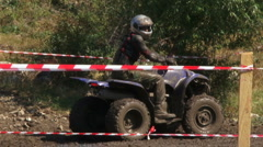 Stock Video Footage of Racing four wheel motorcycle