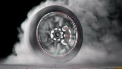 Wheel Burnout loop - stock footage