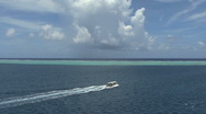Stock Video Footage of Raiatea excursion boat in lagoon 1