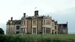 Wiston House, West Sussex, UK, with Union Flag. Stock Footage