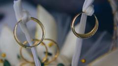Marriage wedding rings  Stock Footage