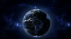 Earth at night Stock Footage