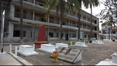 Tuol Sleng Museum Cambodia_LDA_P_00154.MOV Stock Footage