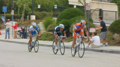 BIKE RACERS CLOSE-UP SLOW-MOTION - stock footage