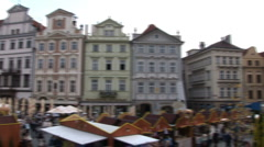 Prague - pan to old town hall Stock Footage