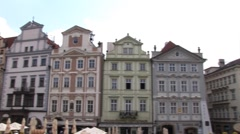 Prague - pan to Our Lady church - stock footage