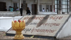 Tuol Sleng Museum Cambodia_LDA_P_00156.MOV - stock footage