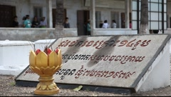 Tuol Sleng Museum Cambodia_LDA_P_00157.MOV Stock Footage
